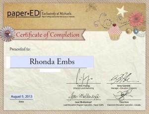 michaels certificate