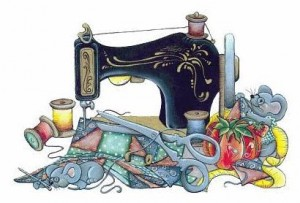 sewingmachine and  mouse