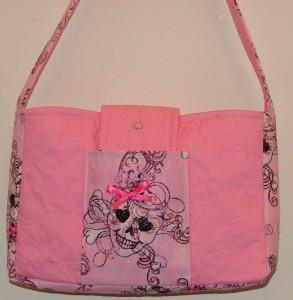 purse front sugar skull