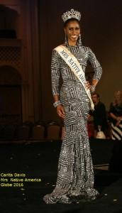 Carita Davis is the new Mrs Native America Globe 2016