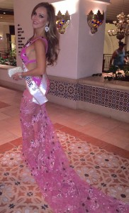 pink gown side view