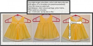 Dress yellow rickrack for sale