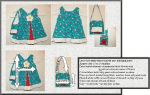 dress blue hello kitty matching purse