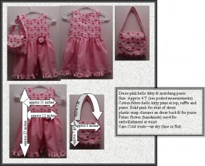 dress pink hello kitty and purse for sale