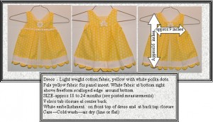 dress yellow scalloped edge for sale